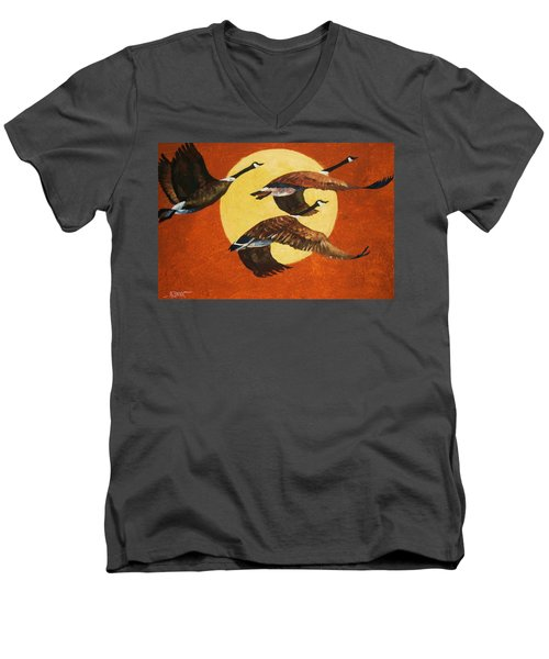 Soaring Migration Men's V-Neck T-Shirt