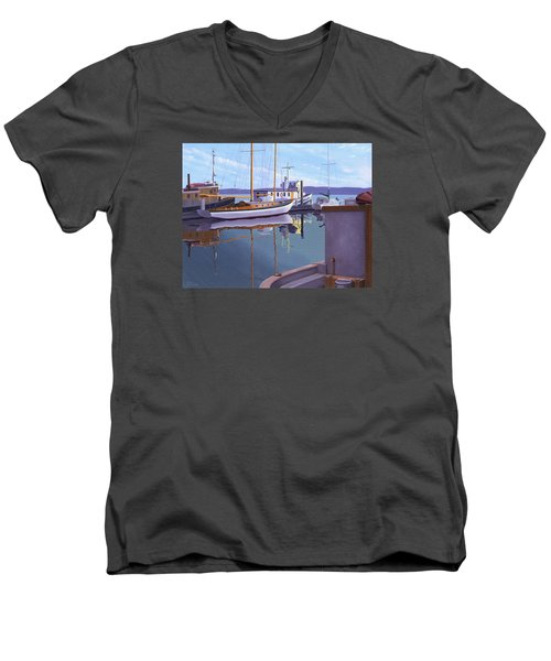 Evening On Malaspina Strait Men's V-Neck T-Shirt by Gary Giacomelli