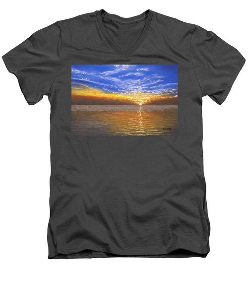 Evening Splash Men's V-Neck T-Shirt