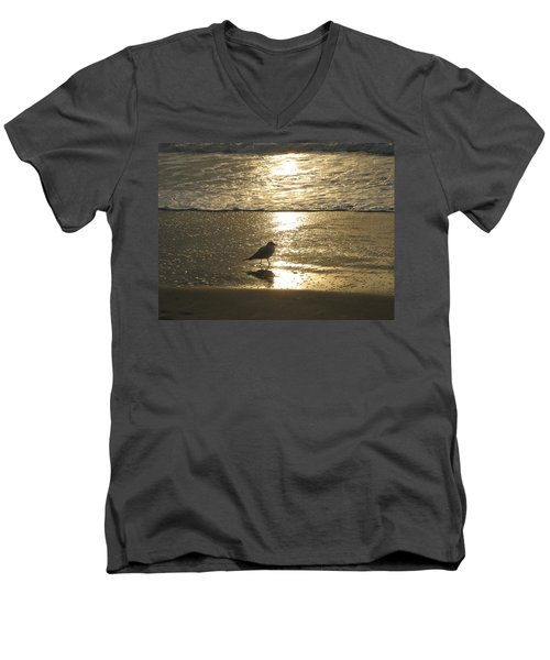 Evening Stroll For One Men's V-Neck T-Shirt