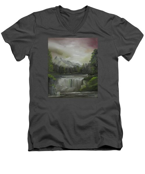 Evening Waterfalls Men's V-Neck T-Shirt