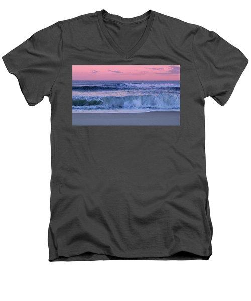 Evening Waves - Jersey Shore Men's V-Neck T-Shirt