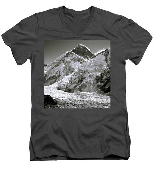 Everest Sunrise Men's V-Neck T-Shirt by Shaun Higson