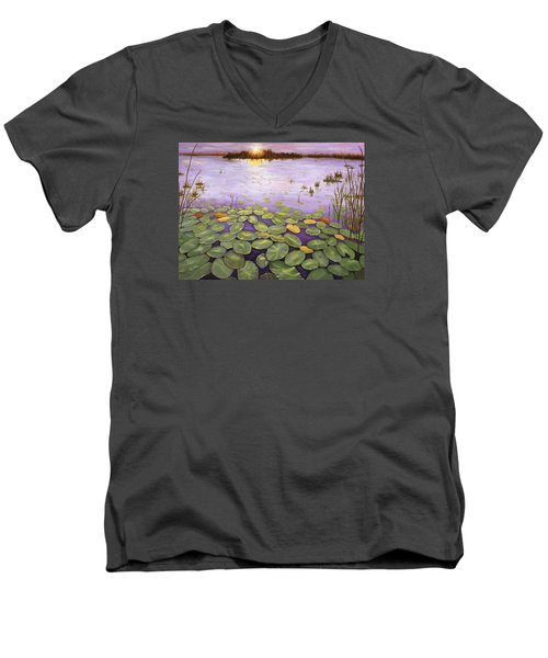 Everglades Evening Men's V-Neck T-Shirt