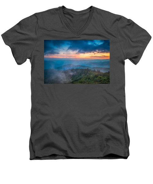 Men's V-Neck T-Shirt featuring the photograph Exhale by Joye Ardyn Durham
