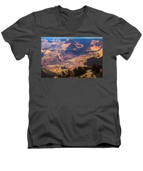 Expanse At Desert View Men's V-Neck T-Shirt