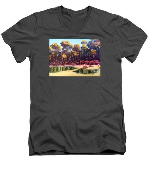 Exploring On Echo Beach Men's V-Neck T-Shirt