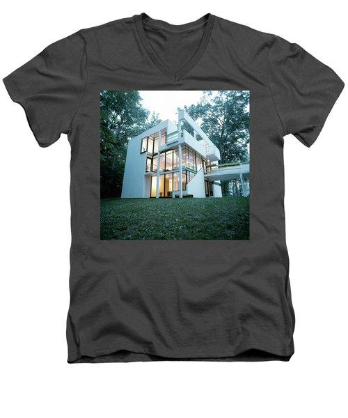 Exterior Of Mr. And Mrs. Jay Hanslemann's Men's V-Neck T-Shirt