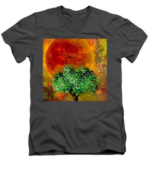 Eye Like Apples Men's V-Neck T-Shirt by Ally  White