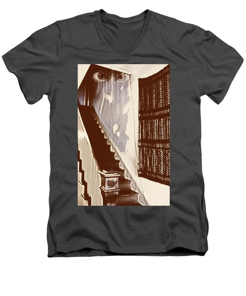 Eyes At The Top Of The Stairs Men's V-Neck T-Shirt
