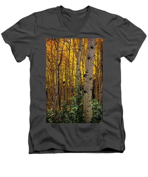 Men's V-Neck T-Shirt featuring the photograph Eyes Of The Forest by Ken Smith