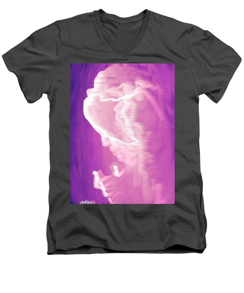 Face In The Clouds Men's V-Neck T-Shirt by Seth Weaver