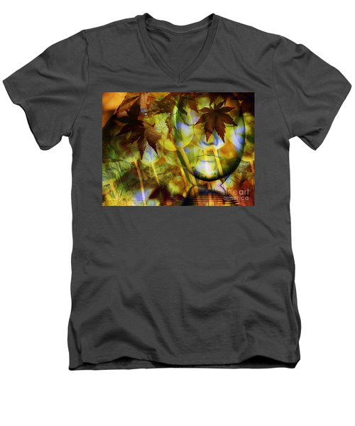 Face In The Rock Dreams Of Tulips Men's V-Neck T-Shirt