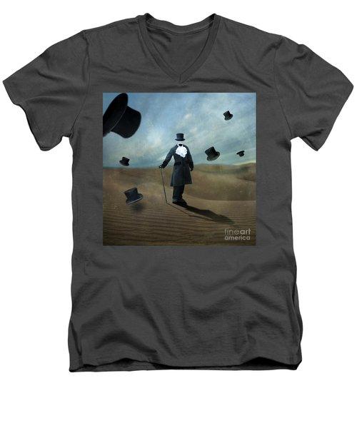 Faceless Men's V-Neck T-Shirt by Juli Scalzi
