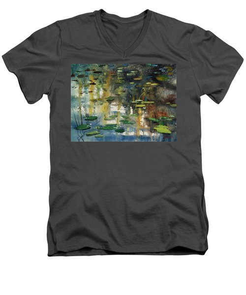 Faces In The Pond Men's V-Neck T-Shirt