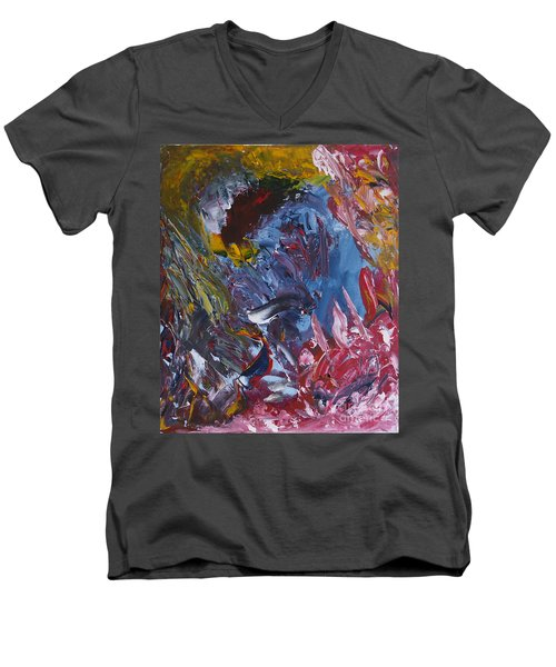 Facing Demons Men's V-Neck T-Shirt