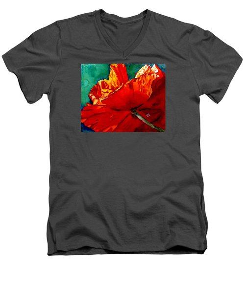 Facing The Light Men's V-Neck T-Shirt