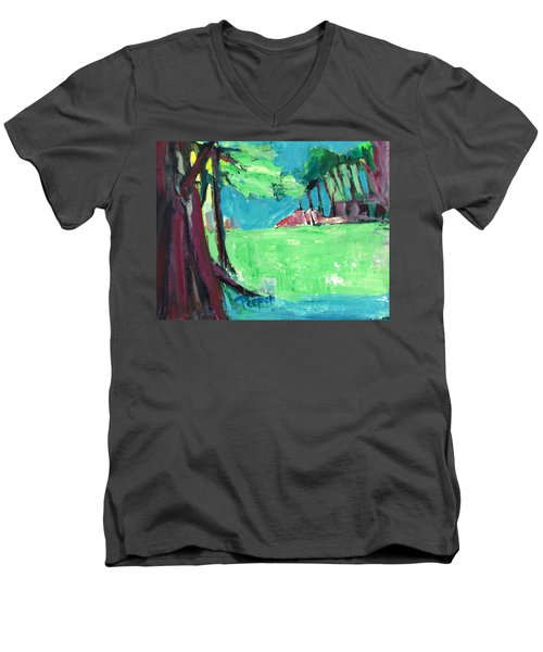 Fairway In Early Spring Men's V-Neck T-Shirt