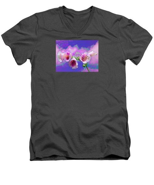 Faith-hope-love Men's V-Neck T-Shirt