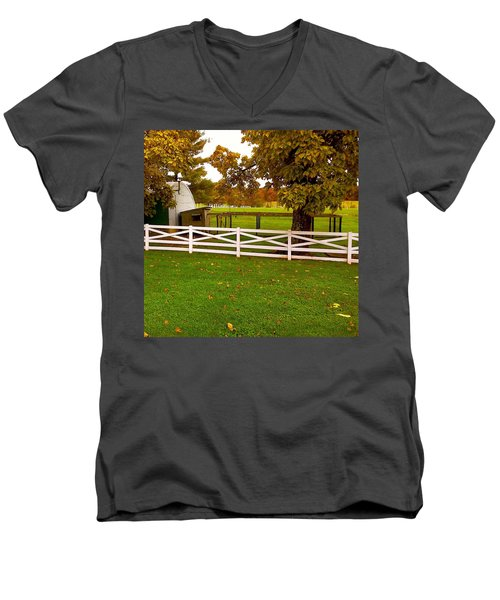 Men's V-Neck T-Shirt featuring the photograph Fall At Eisenhower Farm by Amazing Photographs AKA Christian Wilson