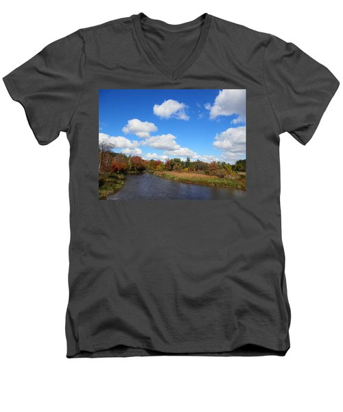 Fall At The Credit River Men's V-Neck T-Shirt