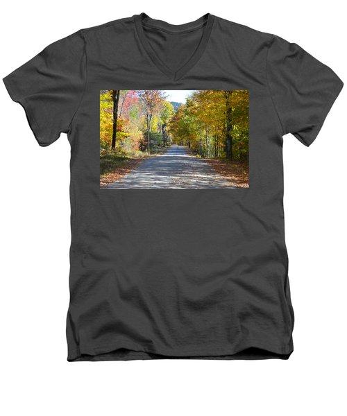 Fall Backroad Men's V-Neck T-Shirt