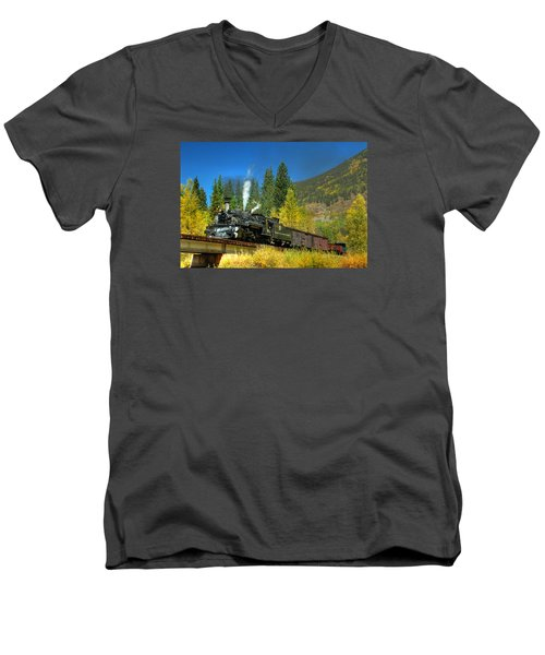 Fall Colored Bridge Men's V-Neck T-Shirt