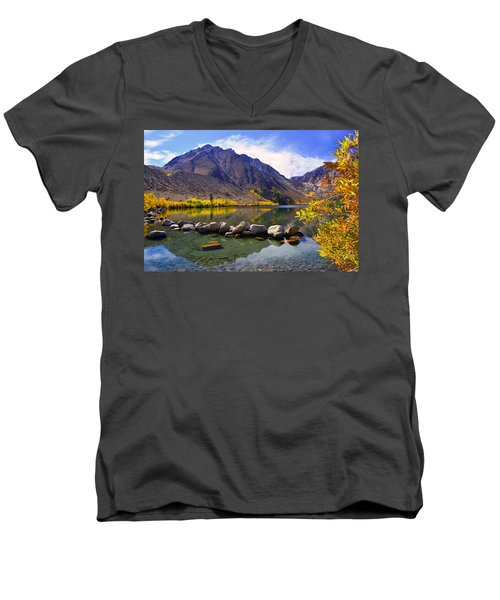 Fall Colors At Convict Lake  Men's V-Neck T-Shirt