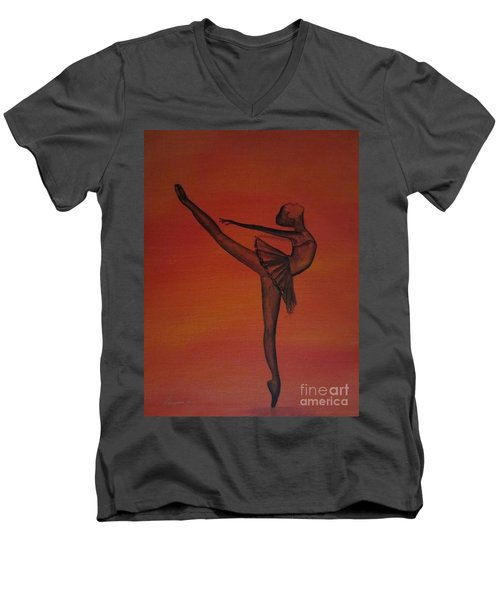 Fall Dancer 1 Men's V-Neck T-Shirt by Laurianna Taylor