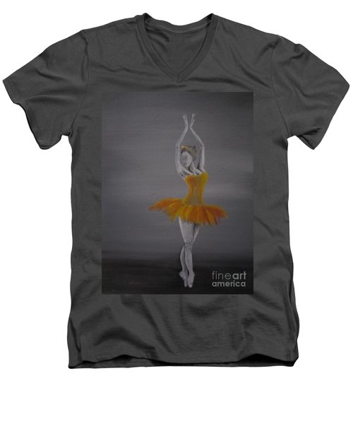 Fall Dancer 2 Men's V-Neck T-Shirt by Laurianna Taylor