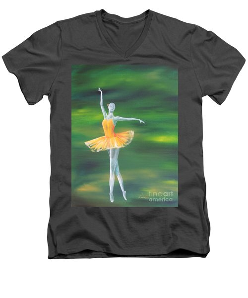 Fall Dancer 3 Men's V-Neck T-Shirt by Laurianna Taylor