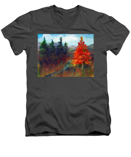 Fall Day Men's V-Neck T-Shirt by C Sitton