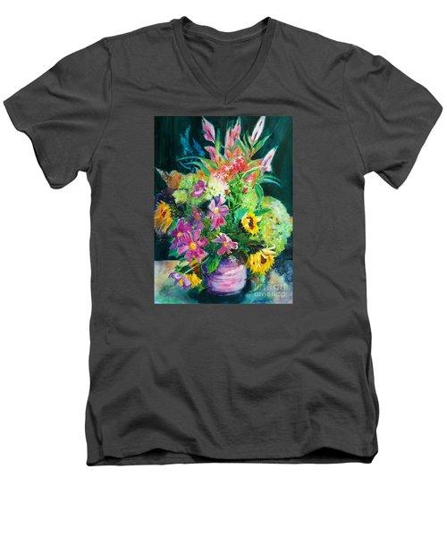 Fall Floral Sweetness Men's V-Neck T-Shirt