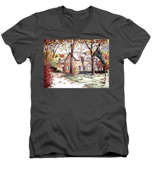 Fall Home Portriat Men's V-Neck T-Shirt
