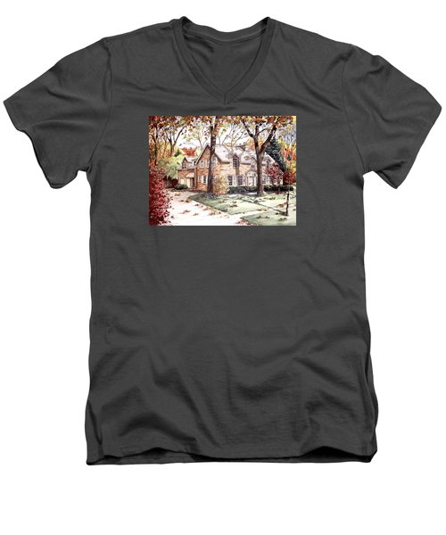 Fall Home Portriat Men's V-Neck T-Shirt