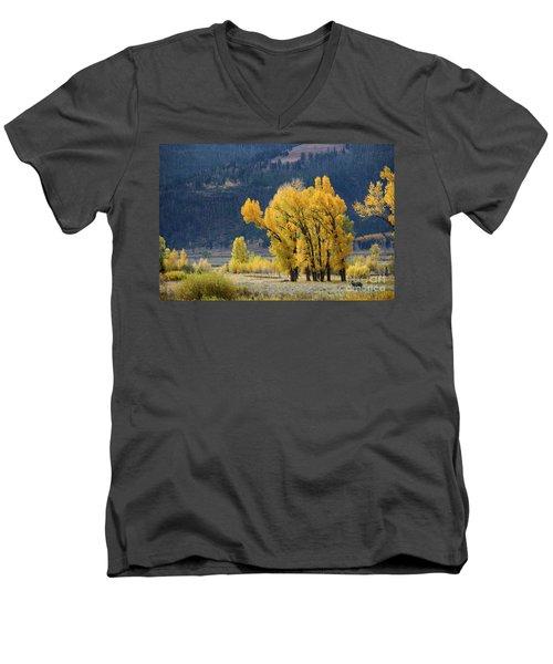 Fall In Yellowstone Men's V-Neck T-Shirt