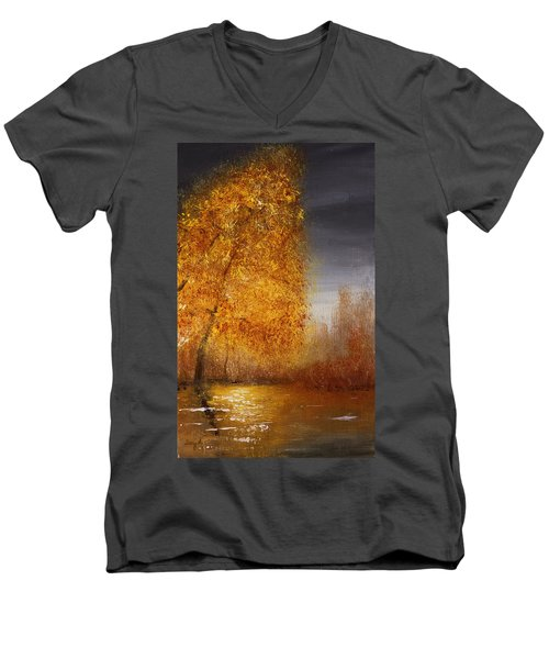 Fall Lake Reflections Men's V-Neck T-Shirt
