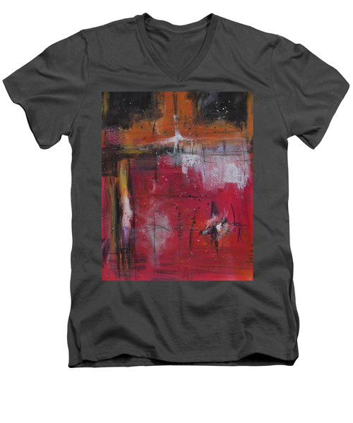 Fall Men's V-Neck T-Shirt by Nicole Nadeau
