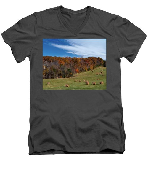 Fall On The Farm Men's V-Neck T-Shirt