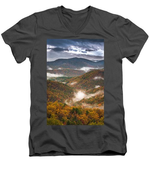 Fall Ridges Men's V-Neck T-Shirt