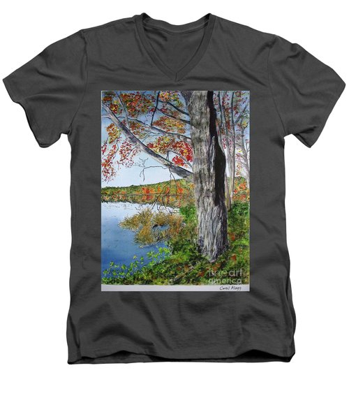 Fall Tree Men's V-Neck T-Shirt