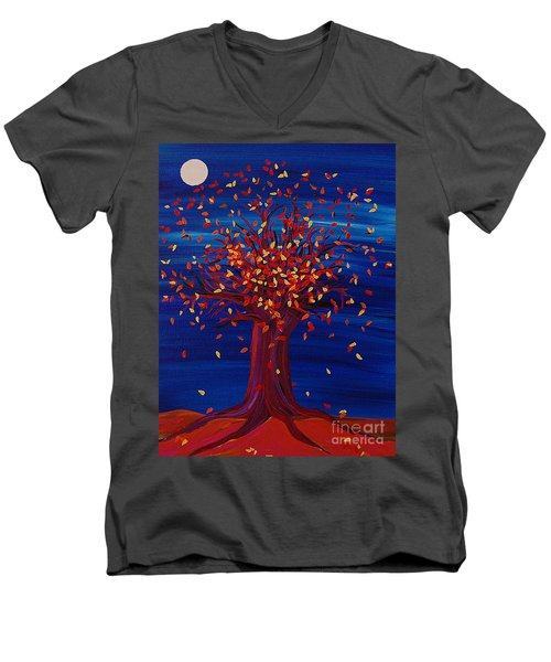 Fall Tree Fantasy By Jrr Men's V-Neck T-Shirt