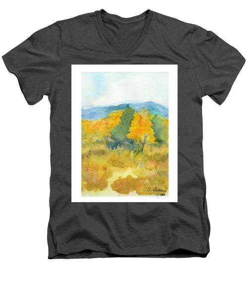 Fall Trees Men's V-Neck T-Shirt by C Sitton