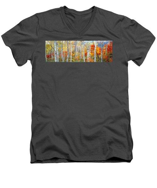 Fall Trees, Shinhodaka, Gifu, Japan Men's V-Neck T-Shirt