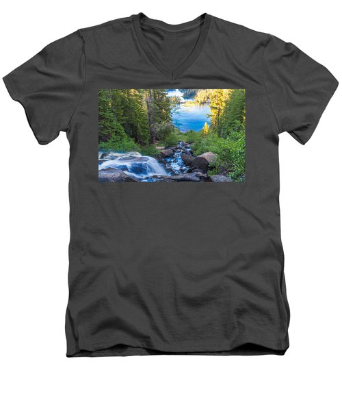 Falling Down To The Lakes Men's V-Neck T-Shirt