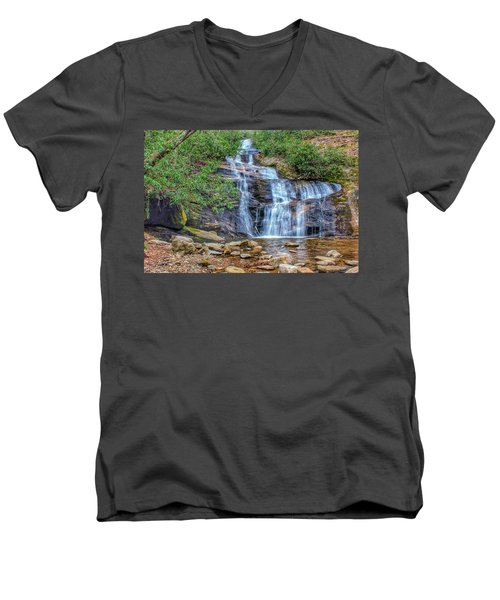 Falling From Mount Mitchell Men's V-Neck T-Shirt