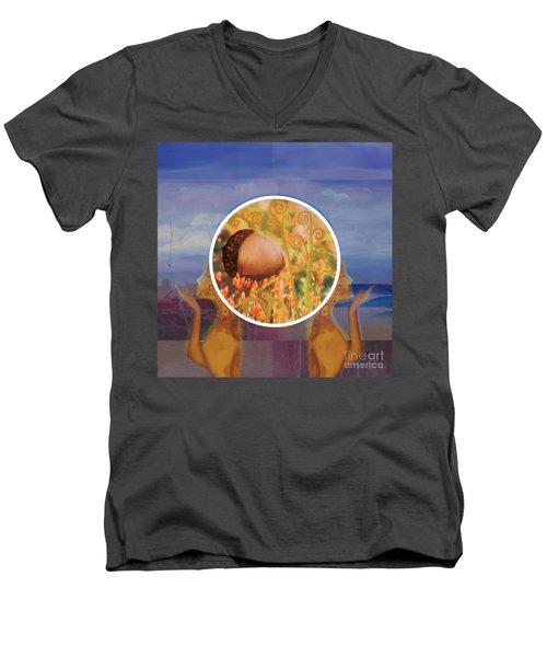 Falling Men's V-Neck T-Shirt