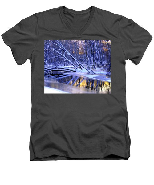 Men's V-Neck T-Shirt featuring the photograph Falling by Terri Gostola