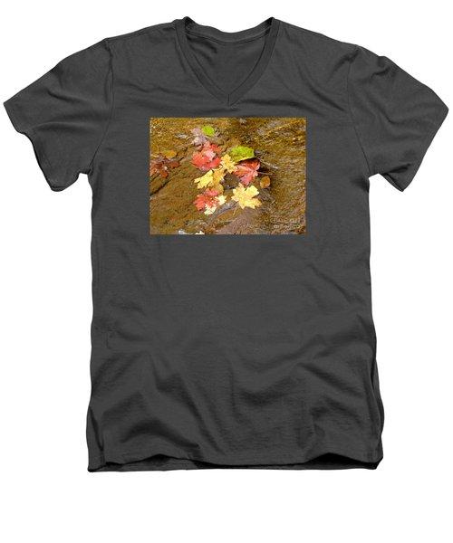 Falls Colors 6349 Men's V-Neck T-Shirt