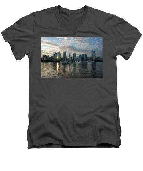 False Creek Sunset Men's V-Neck T-Shirt